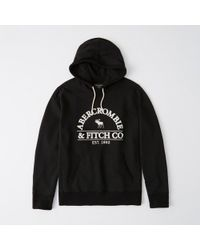 Abercrombie & Fitch - Heavyweight Logo Hoodie - Lyst