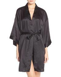Black Bow - 'gem' Satin Robe - Lyst