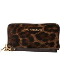 Michael by Michael Kors Jet Set Travel Large Mlt Funt Phone Case - Lyst