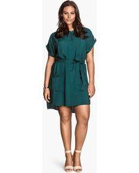 H&M + Shirt Dress - Lyst