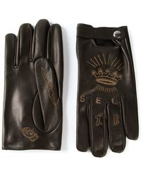 DIESEL - Tattoo-Style Driving Gloves - Lyst