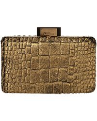 Lanvin Metallic Evening Sea Breeze Clutch - Lyst