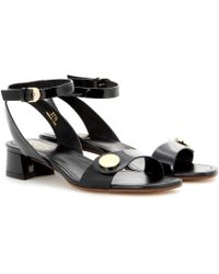 Tod's Patent Leather Sandals - Lyst