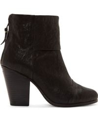 Rag & Bone Black Leather Newbury Boots - Lyst