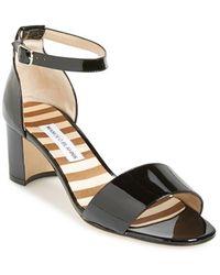 Manolo Blahnik 'Lauratomod' Ankle Strap Sandal - Lyst