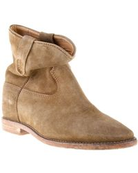 Etoile Isabel Marant Slouchy Suede Ankle Boots - Lyst