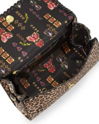 Betsey Johnson Tough Love Pebbled Mini Satchel Bag Leopard - Lyst