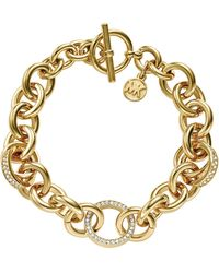 Michael Kors Pave Ring Toggle Bracelet - Lyst