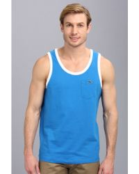 Lacoste Live Cotton Jersey with Contrast Trim Tank Top - Lyst
