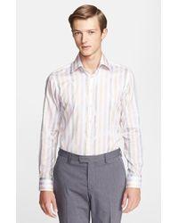 Etro 'Ippolito' Trim Fit Stripe Woven Shirt - Lyst