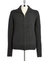 Victorinox - Wool Zip Front Cardigan - Lyst