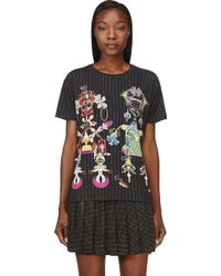 Mary Katrantzou Black Jersey Clocktopia Tikki Man T_shirt - Lyst