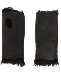 Karl Donoghue - Fingerless Shearling Gloves - Lyst