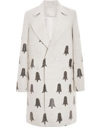 Honor Butter and Black Tulip Jacquard Coat - Lyst
