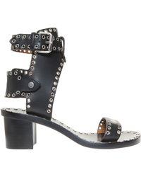 Isabel Marant | Jaeryn Eyelet Velvet Sandals | Lyst