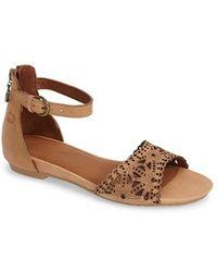 Gerry Weber - 'beach' Leather Ankle Strap Sandal - Lyst