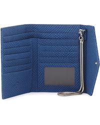 Romy Gold - Snake-embossed Flap-top Wallet - Lyst
