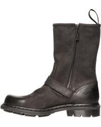 Dr. Martens Matte Leather Boots - Lyst