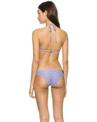 Amore & Sorvete - Bora Bora Bikini Top - Navy Gingham - Lyst