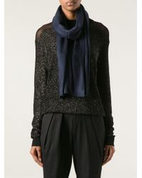 Gucci Blue Rectangle Scarf - Lyst