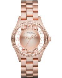 Marc By Marc Jacobs Women'S Henry Skeleton Rose Gold-Tone Stainless Steel Bracelet Watch 34Mm Mbm3339 - Lyst