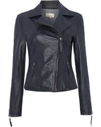 Linea Weekend - Ladies Navy Leather Jacket - Lyst