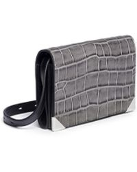Alexander Wang Prisma Mini Crocodile Emboss Leather Shoulder Bag - Lyst