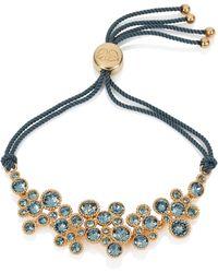 Caroline Creba - Swarovski Crystal Bracelet Gold & Blue - Lyst