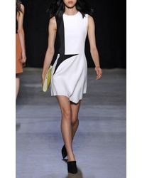 Narciso Rodriguez Textured Crepe Dress in White - Lyst