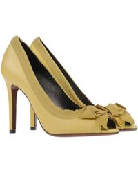 Lanvin Yellow Pump - Lyst
