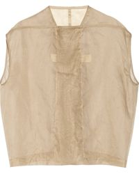 Rick Owens Mantle Cottonorganza Top - Lyst