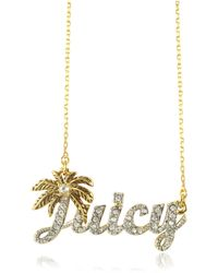 Juicy Couture - Juicy Palm Signature Necklace - Lyst