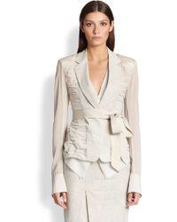 Donna Karan New York Ruched Jacket - Lyst