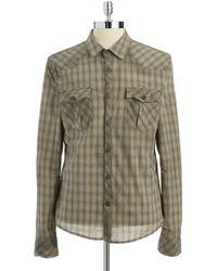 Rogue State - Plaid Cotton Shirt - Lyst