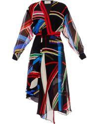 Preen Flintoff Printed Silk-Georgette Dress - Lyst
