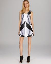 Karen Millen Dress Graphic Deco Print - Lyst