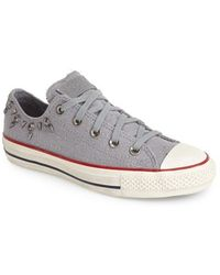 Converse Chuck Taylor All Star Studded Oxford Sneaker gray - Lyst