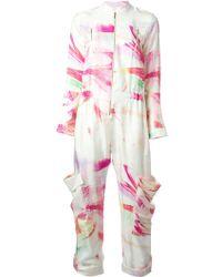 Matthew Williamson Flamingo Print Jumpsuit - Lyst