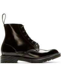 Dr. Martens Black Leather 6_eye Arthur Boots - Lyst