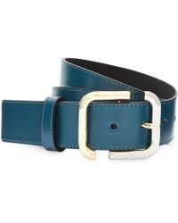 Cc Mixed Plate Buckle Leather Belt - Lyst