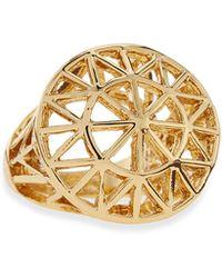 Panacea - Golden Sunburst Dome Ring - Lyst
