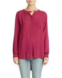 Free People Solid Gauze Blouse - Lyst