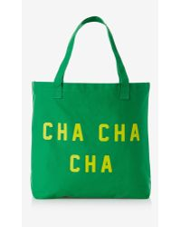 Express Graphic Canvas Tote Bag - Cha Cha Cha - Lyst