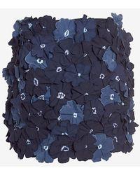 Vanessa Bruno Floral Applique Skirt - Lyst