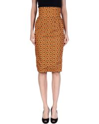 Stella Jean 3/4 Length Skirt orange - Lyst