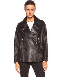 Acne Studios Swift Light Leather Jacket - Lyst