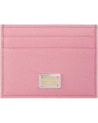Dolce & Gabbana | Pink Leather Card Holder | Lyst