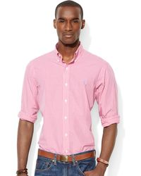 Ralph Lauren Polo Checked Poplin Shirt - Lyst