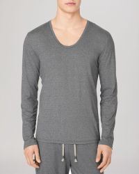 Calvin Klein Long Sleeve Scoop Neck Tee - Lyst
