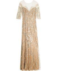 Jenny Packham Sequin Gown - Lyst